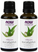 2-Pack Of Essential Oils Eucalyptus 1 oz (30 ml), Now Foods