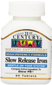 Slow Release Iron 60 Tabs, 21st Century Health Care