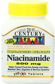 Niacinamide 500 mg 110 Tabs, 21st Century Health Care