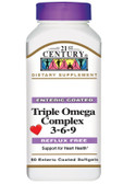 Triple Omega Complex 3-6-9 90 Enteric Coated sGels, 21st Century Health Care