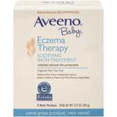 Baby Eczema Therapy Soothing Bath Treatment Fragrance Free 5 Bath Packets 3.75 oz (106 g), Aveeno