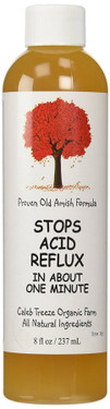 Stops Acid Reflux 8 oz (237 ml), Caleb Treeze Organic Farm