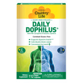 Daily-Dophilus AM/PM Complete Probiotic System 112 Veggie Caps, Country Life