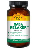 GABA Relaxer 90 Tabs, Country Life