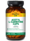 Acetyl L-Carnitine Caps 500 mg 120 Veggie Caps, Country Life