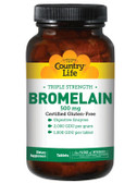 Bromelain Triple Strength 500 mg 60 Tabs, Country Life