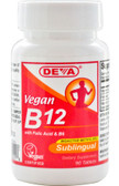 Vegan B12 Sublingual 90 Tabs, Deva