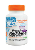 Best French Red Wine Extract 60 mg 90 Veggie Caps, Doctor's Best
