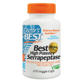 Best High Potency Serrapeptase 120 000 SPUs 270 Veggie Caps, Doctor's Best