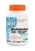 Best Benfotiamine 150 + Alpha-Lipoic Acid 300 60 Veggie Caps, Doctor's Best