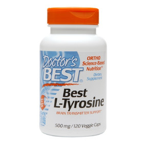 Best L-Tyrosine 500 mg 120 Veggie Caps, Doctor's Best