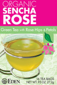 Organic Sencha Rose Green Tea with Rose Hips & Petals 16 Tea Bags .95 oz (27.2 g), Eden Foods
