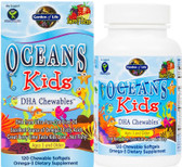 Oceans Kids DHA Chewables Age 3 And Older Berry Lime 120 Chewable sGels, Garden of Life
