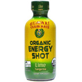 Yerba Mate Organic Energy Shot Lime Tangerine 2 oz (59 ml), Guayaki