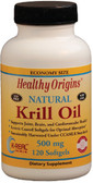 Krill Oil Natural Vanilla Flavor 500 mg 120 sGels, Healthy Origins