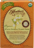 Organic Acacia Senegal Tummy Fiber 25 Travel Packets 2.5 g Each, Heather's Tummy Care
