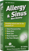 Allergy Sinus 60 Tabs, Natra Bio, Nasal Congestion