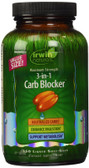 3-in-1 Carb Blocker Maximum Strength 150 Liquid Soft-Gels, Irwin Naturals