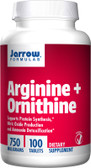 Arginine + Ornithine 750 mg 100 Tabs, Jarrow