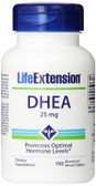 DHEA 25 mg 100 Dissolve in Mouth Tabs, Life Extension
