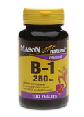 Vitamin B-1 250 mg 100 Tabs, Mason Vitamins