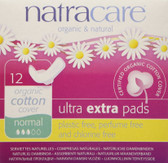 Organic & Natural Ultra Extra Pads Normal 12 Pads, Natracare