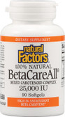 BetaCareAll 25 000 IU 90 sGels, Natural Factors