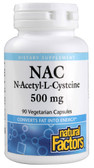 N-Acetyl-L Cysteine 500 mg 90 Veggie Caps, Natural Factors