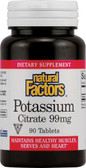 Potassium Citrate 99 mg 90 Tabs, Natural Factors