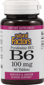 B6 Pyridoxine HCl 100 mg 90 Tabs, Natural Factors