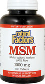 MSM (Methyl-Sulfonyl-Methane) 1000 mg 180 Tabs, Natural Factors