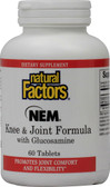 NEM Knee & Joint Formula with Glucosamine 60 Tabs, Natural Factors