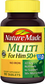 Multi For Him 50+ No Iron 90 Tabs, Nature Made