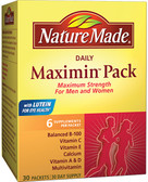 Daily Maximin Pack Multivitamin and Mineral 6 Supplements Per Packet 30 Packets, Nature Made