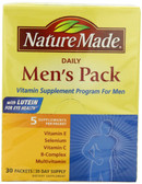 Daily Men's Pack 5 Supplements Per Packet 30 Packets, Nature Made