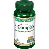 Super B-Complex with Folic Acid Plus Vitamin C 150 Tabs, Nature's Bounty