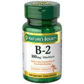 Vitamin B-2 100 mg 100 Tabs, Nature's Bounty