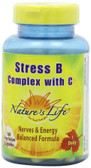 Stress B Complex with C 100 Veggie Caps, Nature's Life