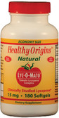 Lyc-O-Mato (Tomato Lycopene) 15 mg 180 Softgels Healthy Origins, Antioxidants