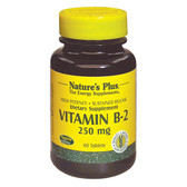 Vitamin B-2 250 mg 60 Tabs, Nature's Plus