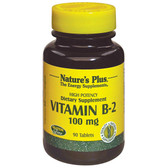 Vitamin B-2 100 mg 90 Tabs, Nature's Plus