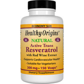 Resveratrol 300 mg 150 Caps Healthy Origins, Antioxidant
