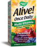 Alive! Once Daily Multi-Vitamin 60 Tabs, Nature's Way