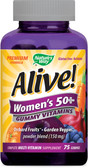 Alive! Women's 50+ Gummy Vitamins 75 Gummies, Nature's Way
