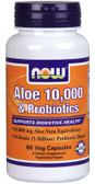 Aloe 10 000 & Probiotics 60Veggie Caps, Now Foods