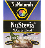 NuStevia No Carbs Blend 50 Packets .89 oz (25 g), NuNaturals