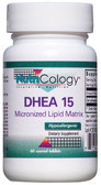 DHEA 15 60 Scored Tabs, Nutricology