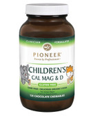 Children's Cal Mag & D Chocolate Flavor 120 Chewables, Pioneer Nutritional Formulas