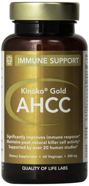 Kinoko Gold AHCC Immune Support 500 mg 60 vCaps Quality of Life Labs