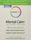 Mental Calm 30 Mini-Tabs, Rainbow Light